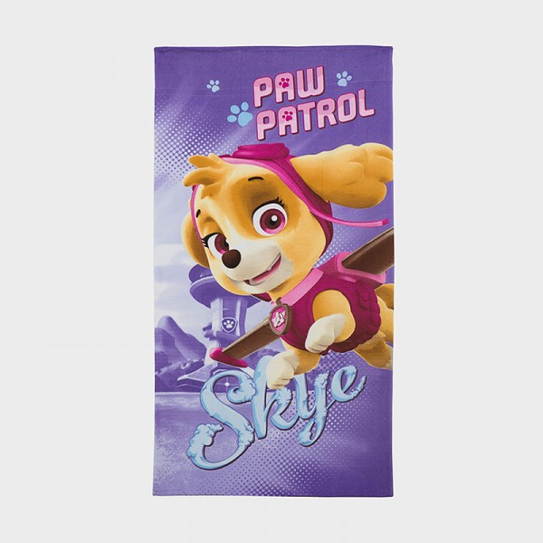Πετσέτα θάλασσας PAW PATROL 137εκ. x 68εκ., λιλά, Nickelodeon