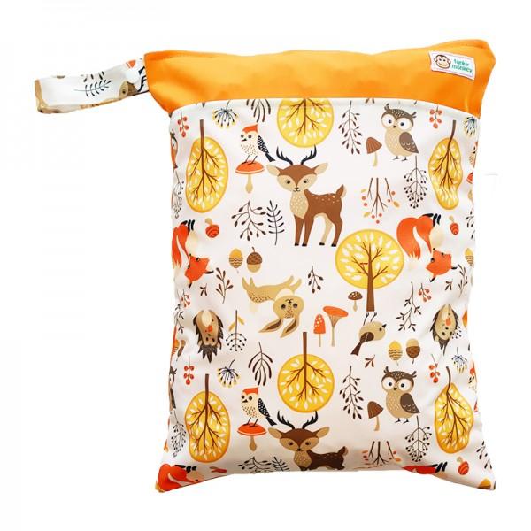 Τσάντα Wet & Dry πολύχρωμη - πορτοκαλί, με σχέδιο ζωάκια του δάσους
