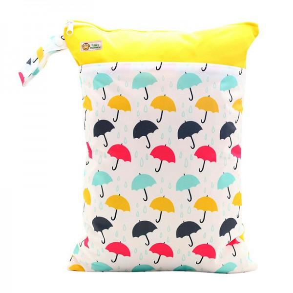 Τσάντα Wet & Dry πολύχρωμη - κίτρινη, με σχέδιο ομπρέλες