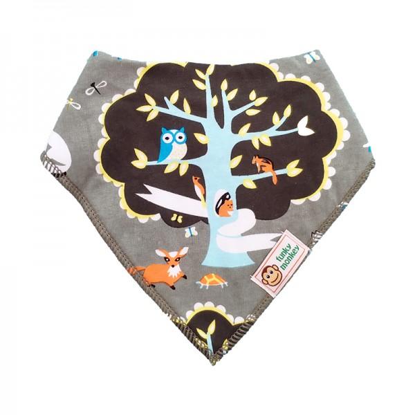 Σαλιάρα Μπαντάνα One Size πολύχρωμη, με σχέδιο δάσος