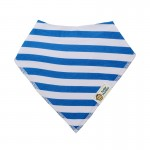 Σαλιάρα Μπαντάνα One Size μπλε - λευκή, ριγέ