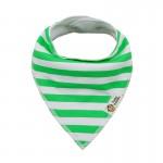 Σαλιάρα Μπαντάνα One Size πράσινη - λευκή, ριγέ