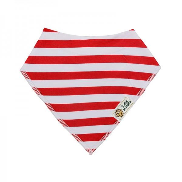 Σαλιάρα Μπαντάνα One Size κόκκινη - λευκή, ριγέ