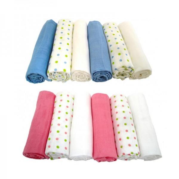 Βαμβακερές μουσελίνες σε διάφορα χρώματα