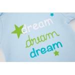 """Ζιπουνάκι με κοντό μανίκι από 100% βαμβάκι πολύχρωμο, με τύπωμα """"dream"""""""
