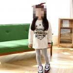 """Μπλουζοφόρεμα μακρυμάνικο με στάμπα """"SAN FRANCISCO"""" και τίγρη,  λευκό"""