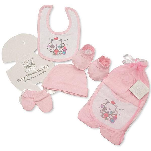 Σετ δώρου τεσσάρων τεμαχίων για νεογέννητο κοριτσάκι