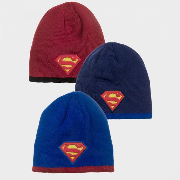 Σκούφος με σχέδιο SUPERMAN, σε τρία χρώματα