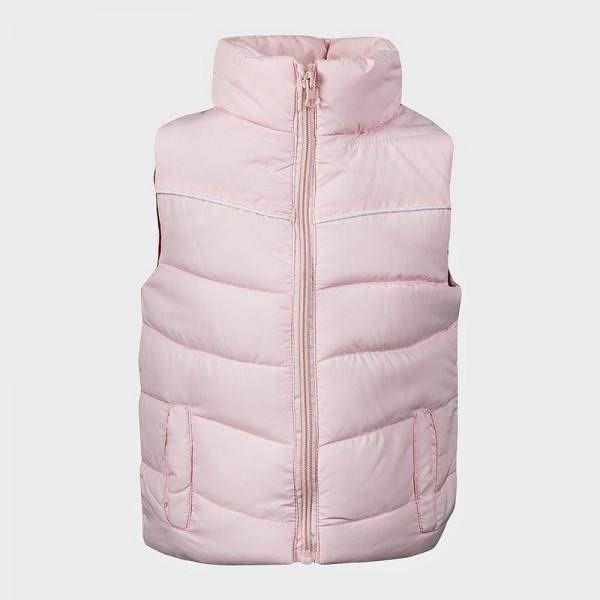 Αμάνικο μπουφανάκι με τσέπες, ροζ