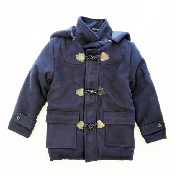 Μπουφάν 'Montgomery' με αποσπώμενη κουκούλα, τσέπες και επένδυση, μπλε σκούρο