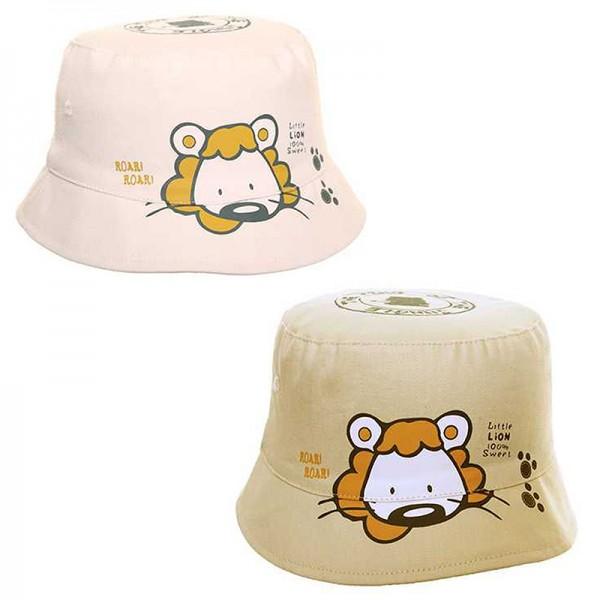 Καπέλο με σχέδιο λιονταράκι, σε δύο χρώματα