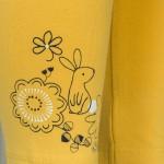 Σετ δύο κολάν βαμβακερά, κίτρινο με σχέδιο λουλούδια και λαγουδάκι και φλοράλ