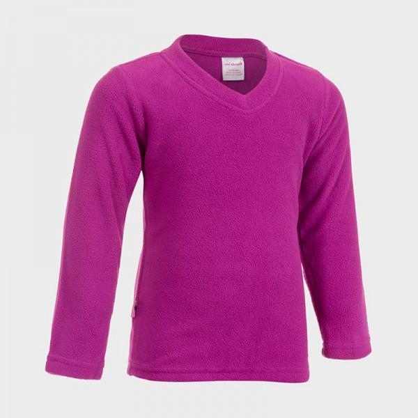 Μπλούζα μακρυμάνικη fleece με V, μωβ, Girls Inc.