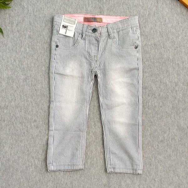 Παντελόνι με ρίγες, λευκό - γκρι