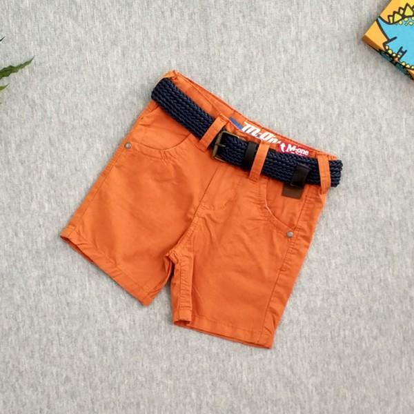 Κοντό παντελονάκι με ζώνη, πορτοκαλί