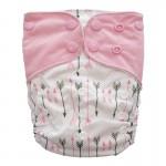 Πάνα Pocket One Size πολύχρωμη, με σχέδιο βέλη και ροζ φτερά