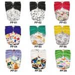 Πακέτο 6 υφασμάτινες πάνες Pocket One Size με σχέδια της επιλογής σας