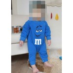 """Φορμάκι βαμβακερό μακρυμάνικο """"M&M"""", μπλε"""