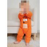 """Φορμάκι βαμβακερό μακρυμάνικο """"M&M"""", πορτοκαλί"""
