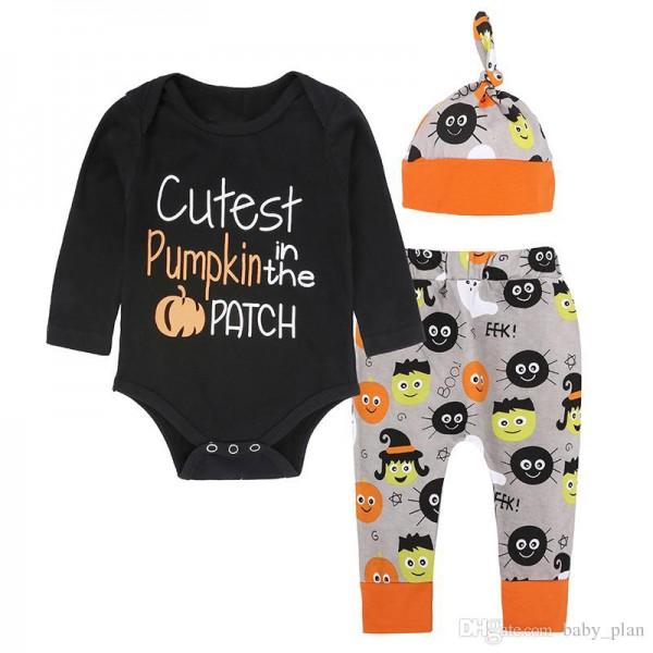 Σετ ζιπουνάκι, παντελόνι και σκουφάκι με στάμπα, μαύρο - πορτοκαλί - γκρι