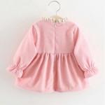 Φόρεμα κοτλέ με μεγάλο φιόγκο και επένδυση, ροζ