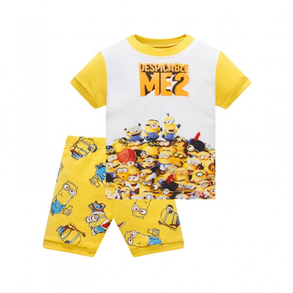 Πιτζάμες καλοκαιρινές 'MINIONS', λευκές - κίτρινες