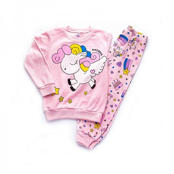 Πιτζάμες με σχέδιο μονόκερος, ροζ