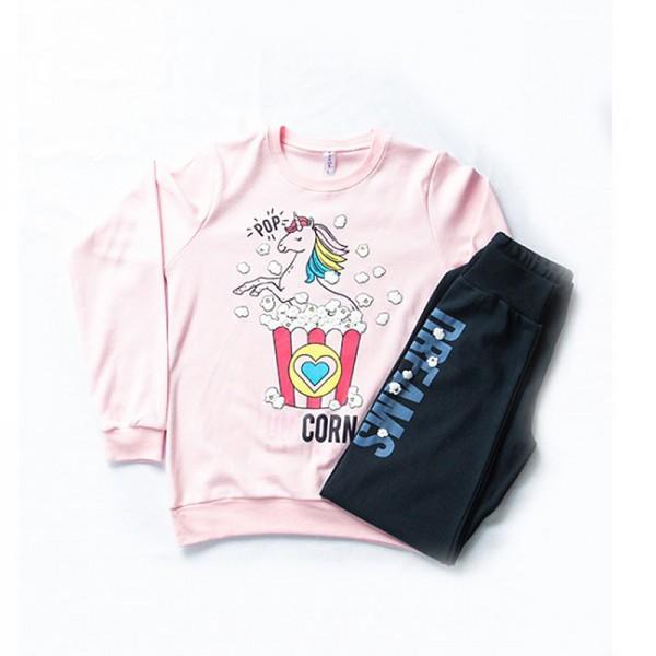 Πιτζάμες με σχέδιο μονόκερο, ροζ - μπλε navy