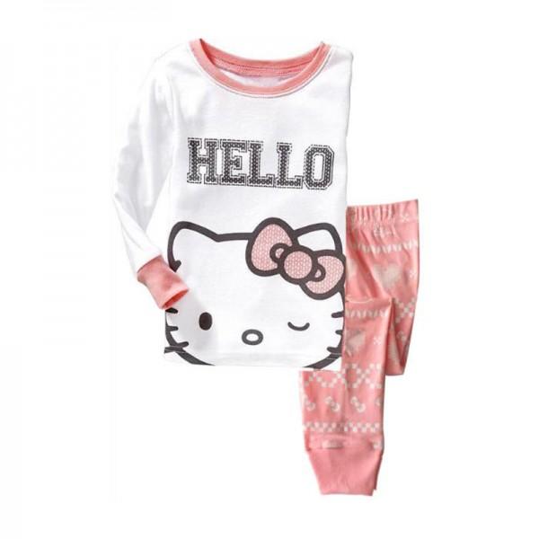 """Πιτζάμες """"Hello Kitty"""", λευκό - ροζ"""
