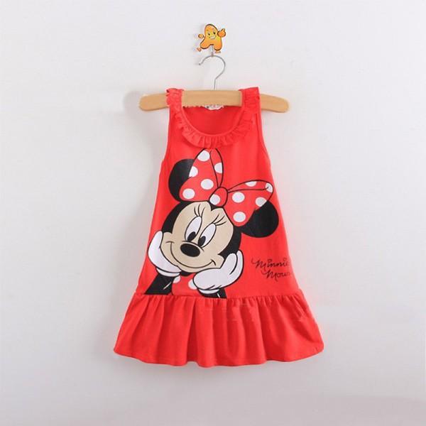 Φόρεμα αμάνικο με σχέδιο Μίνι και λεπτομέρεια στο λαιμό, κόκκινο