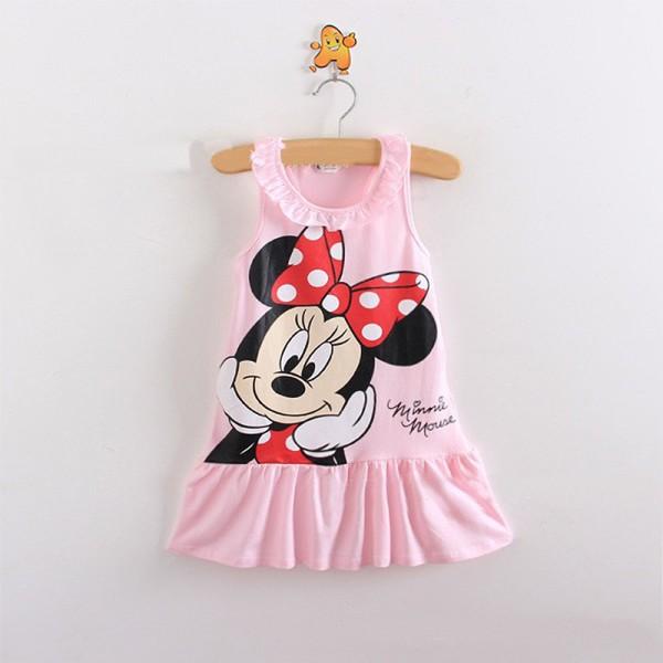 Φόρεμα αμάνικο με σχέδιο Μίνι και λεπτομέρεια στο λαιμό, ροζ