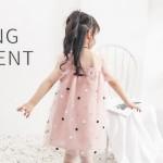 Φόρεμα με τούλι και σχέδιο αστεράκια, ροζ