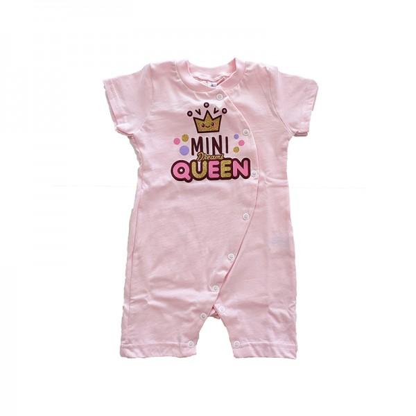 Φορμάκι βαμβακερό με στάμπα Mini Queen, ροζ