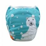 Πάνα - μαγιό πλενόμενο One Size ψηφιακού σχεδίου πολύχρωμo, αρκουδάκι