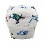Πάνα - μαγιό πλενόμενο One Size ψηφιακού σχεδίου πολύχρωμo, χελώνες