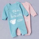 Φορμάκι βαμβακερό μακρυμάνικο, Tea & Biscuits, ροζ