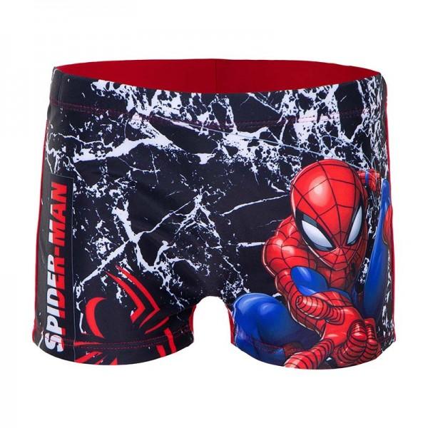 Μαγιό μποξεράκι με σχέδιο Spiderman, μαύρο