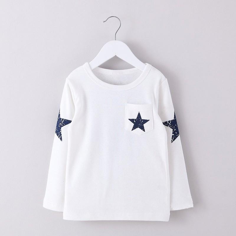 8c27e95249d8 Μπλούζα μακρυμάνικη με στάμπα STAR και σχέδιο αστέρια