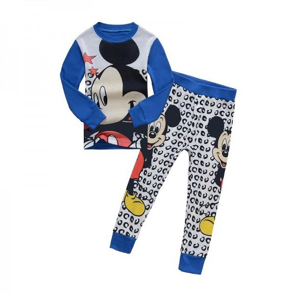 Πιτζάμες με σχέδιο Μίκυ, μπλε λευκό