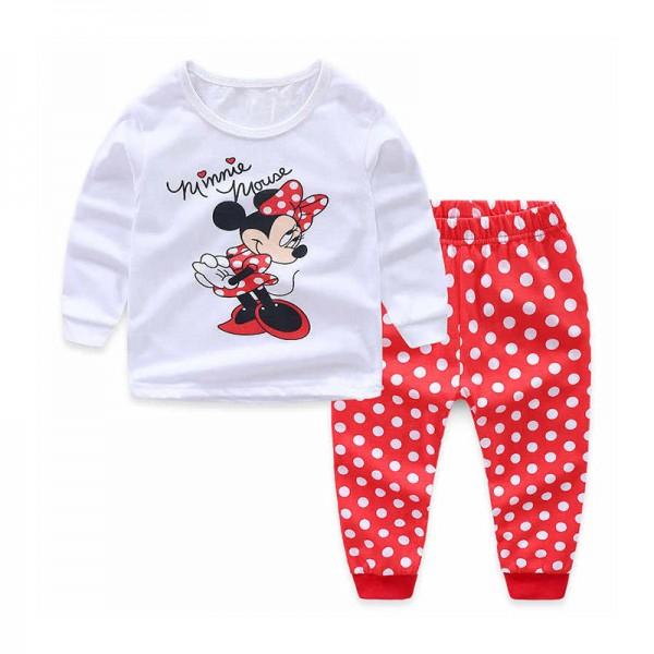 Πιτζάμες με σχέδιο Μίνι, λευκό - κόκκινο