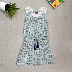 914e85848654 Φορεματάκι αμάνικο με κορδόνι στη μέση και δαντέλα στην πλάτη