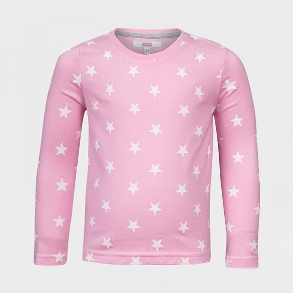 Μπλούζα μακρυμάνικη, με αστέρια ροζ, SUGAR SQUAD